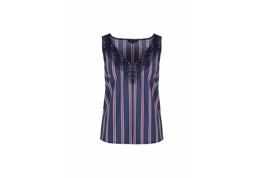 G-maxx Anna-Claire Top Donkerblauw/Rood