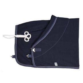 Fleece deken - blauw/blauw-mix (wit)