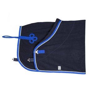 Fleece deken - blauw/koningsblauw-wit