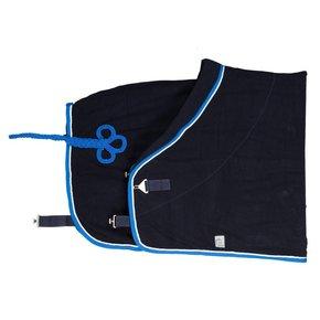 Fleece deken - blauw/lichtblauw-wit