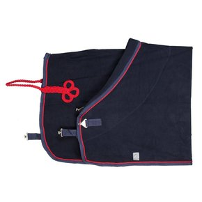 Fleece deken - blauw/blauw-rood