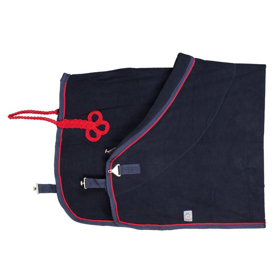 Greenfield Selection Fleece rug - navy/navy-red
