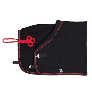 Greenfield Selection Fleece deken - zwart/zwart-rood