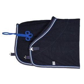 Fleece deken - blauw/blauw-wit/koningsblauw