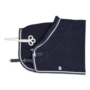 Fleece deken - blauw/blauw-wit/zilvergrijs