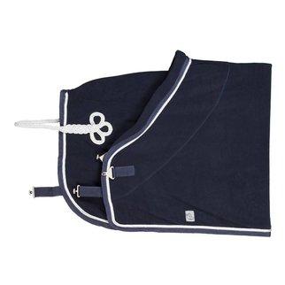 Greenfield Selection Fleece deken - blauw/blauw-wit/zilvergrijs