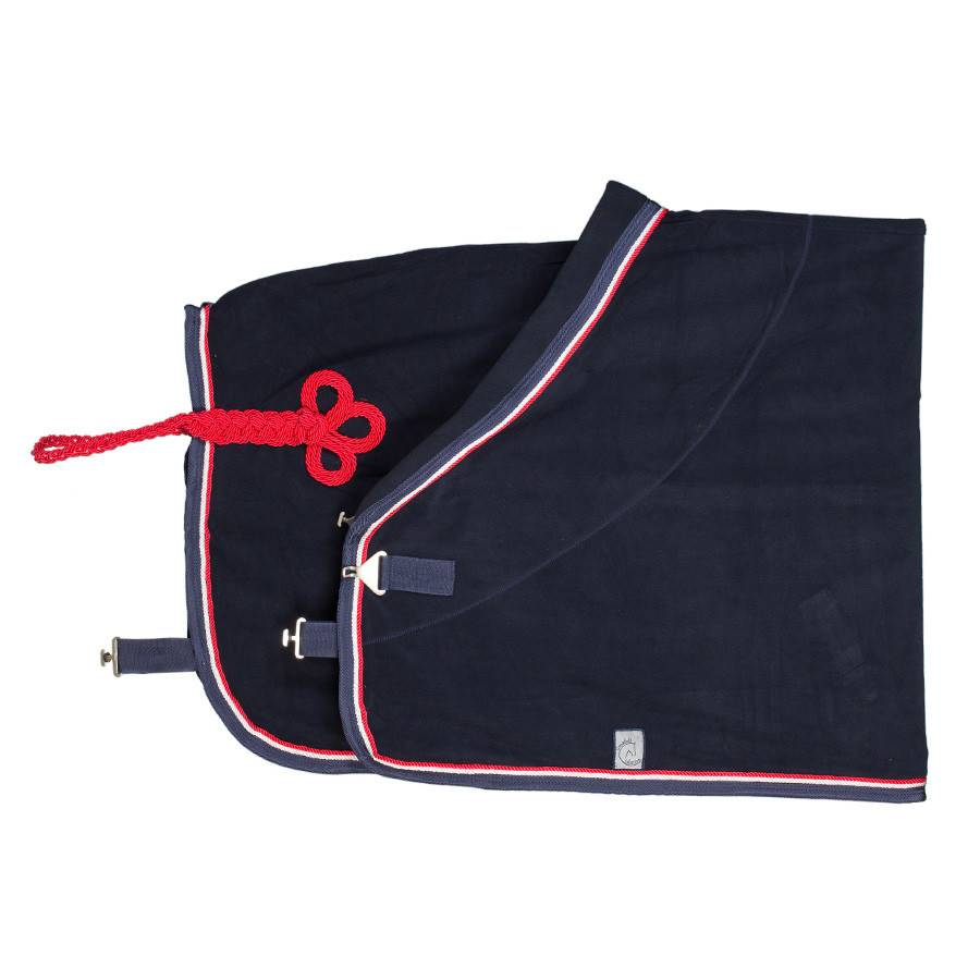 Greenfield Selection Fleece deken - blauw/blauw-wit/rood