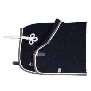 Fleece deken - blauw/grijs-wit/wit