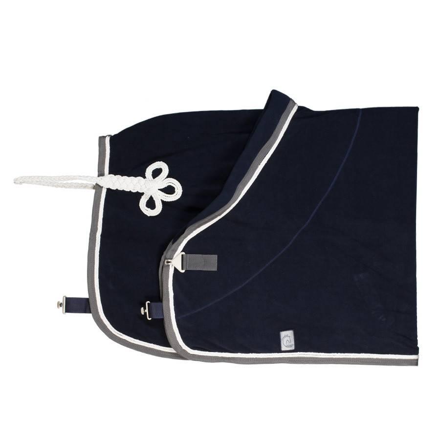 Greenfield Selection C21/2 - Fleece deken - blauw/grijs-wit/wit