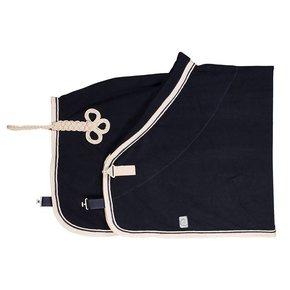 Fleece deken - blauw/beige-blauw/beige