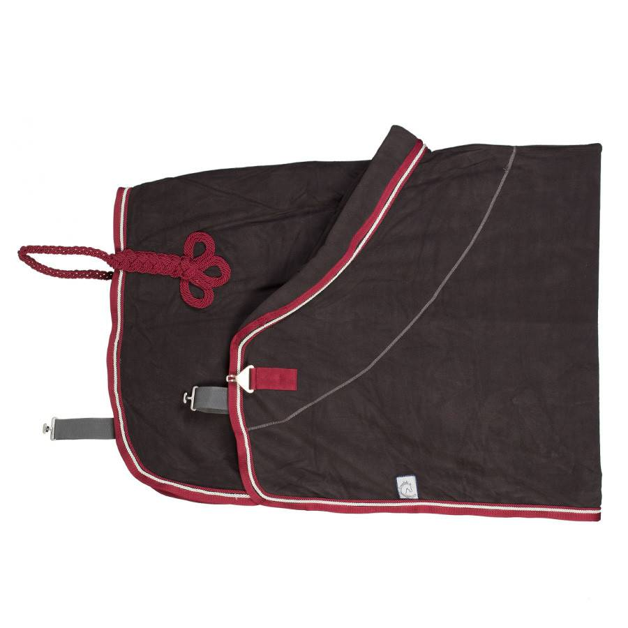Greenfield Selection Fleece rug - grey/burgundy-silvergrey/burgundy