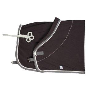 Fleece deken - grijs/grijs-wit/zilvergrijs