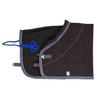 Greenfield Selection Fleece deken - grijs/grijs-zilvergrijs/koningsblauw