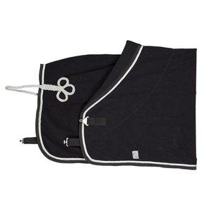 Fleece deken - zwart/zwart-wit/zilvergrijs