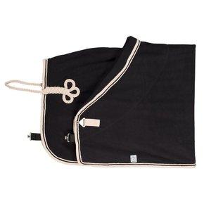 Fleece deken - zwart/beige-zwart/beige