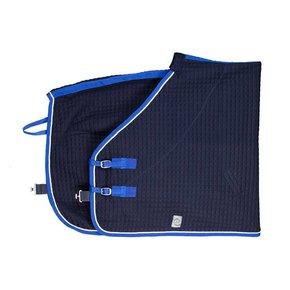 Thermotex deken - blauw/koningsblauw-wit
