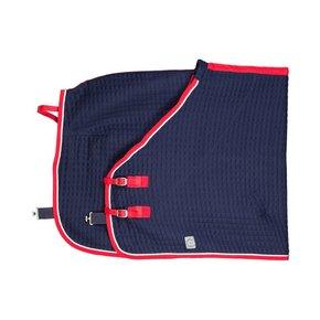 Thermotex deken - blauw/rood-wit