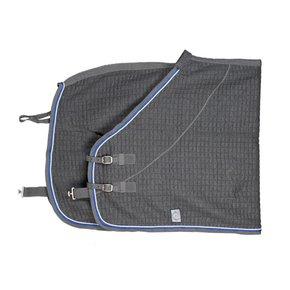 Thermotex deken - grijs/grijs-zilvergrijs/koningsblauw