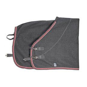 Thermotex deken - grijs/grijs-zilvergrijs/rood