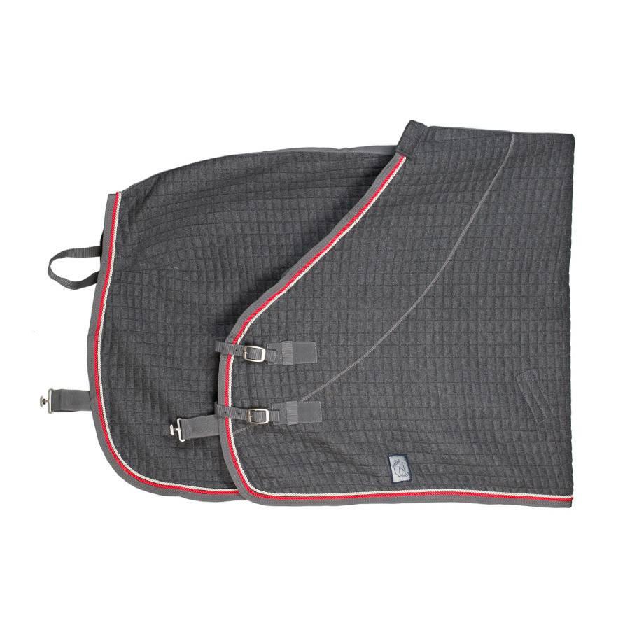 Greenfield Selection Thermotex deken - grijs/grijs-zilvergrijs/rood