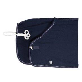 Honeycomb rug - navy/navy-mix (white)