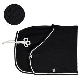 Honeycomb deken - zwart/zwart-wit/zilvergrijs