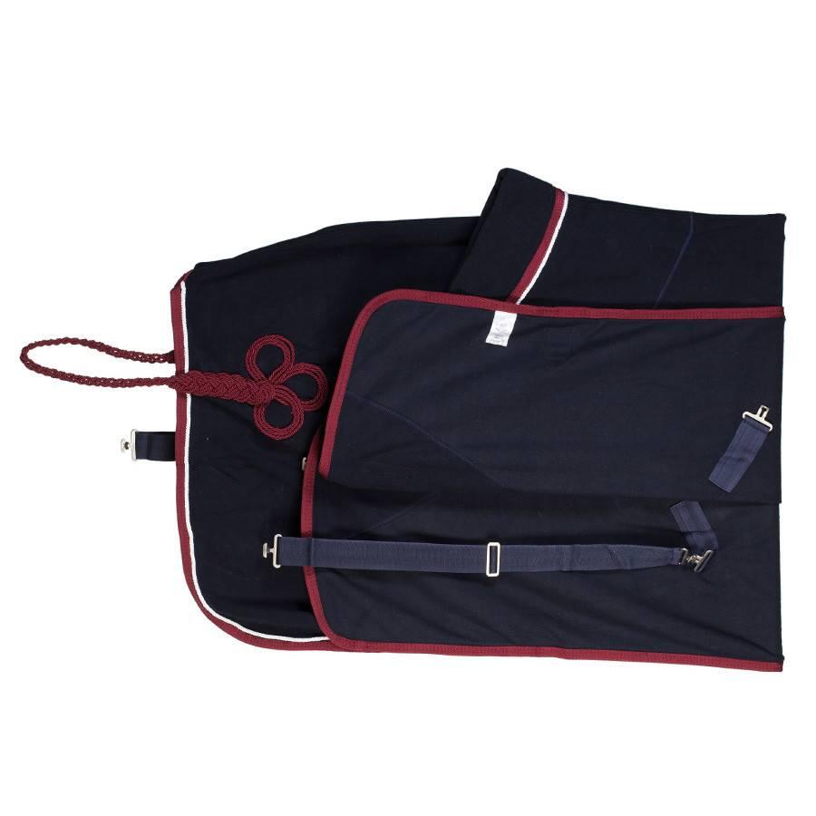 Greenfield Selection Fleece rug - navy/burgundy-white