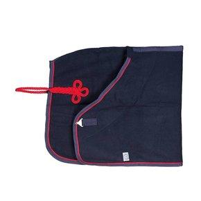 Couverture laine - bleu marine/bleu marine-rouge