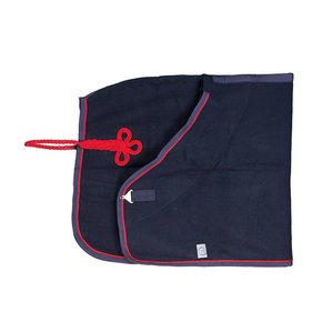 Woolen rug - navy/navy-red