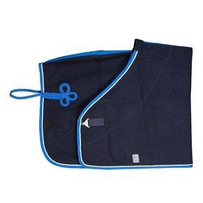Wollen deken - blauw/lichtblauw-wit