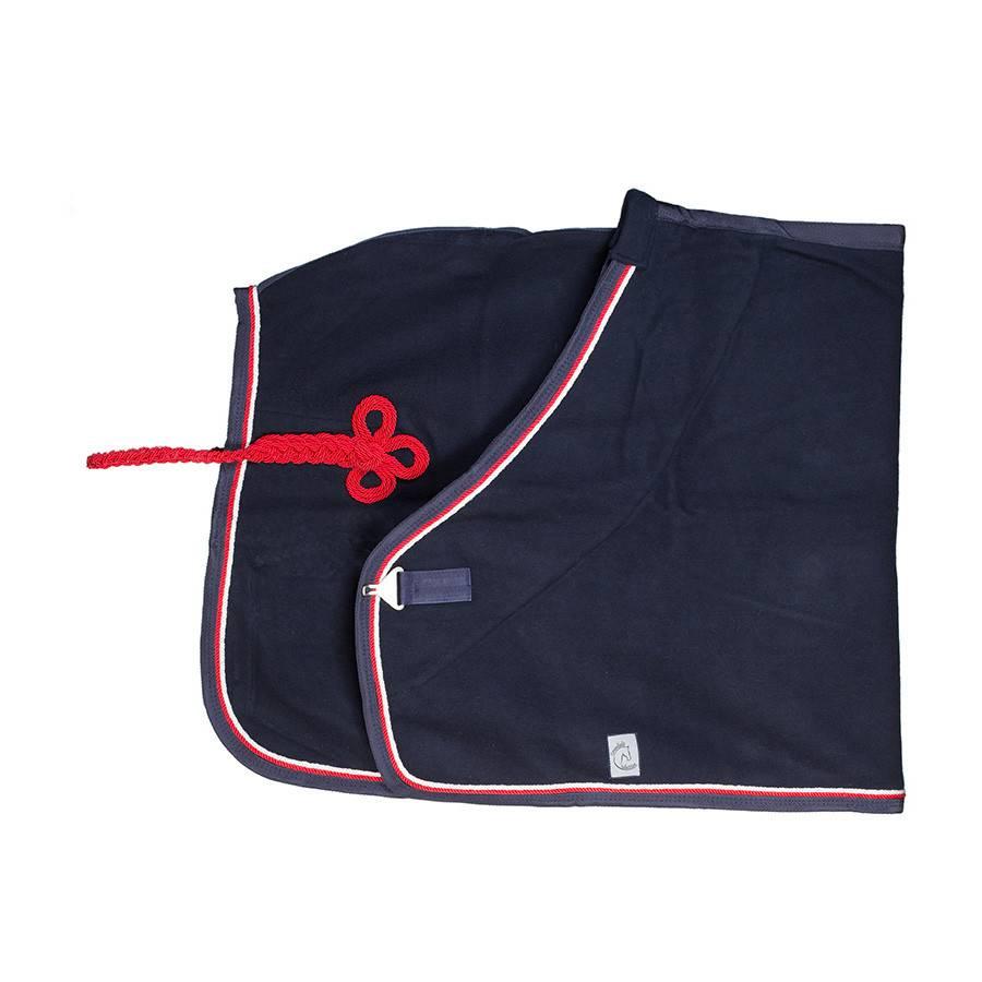 Greenfield Selection Couverture laine - bleu marine/bleu marine-blanc/rouge