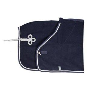 Wollen deken - blauw/blauw-wit/zilvergrijs