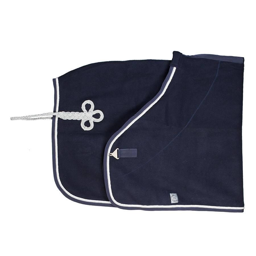 Greenfield Selection Wollen deken - blauw/blauw-wit/zilvergrijs
