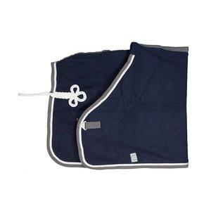 Couverture laine - bleu marine/gris-blanc/blanc