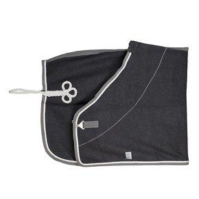 Wollen deken - grijs/grijs-wit/zilvergrijs