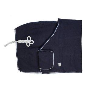 Couverture laine remise des prix - bleu marine/bleu marine-gris argent