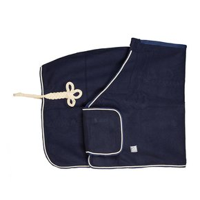 Woolen publicity rug - navy/navy-beige