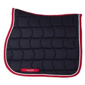 Saddle pad – navy/red-white