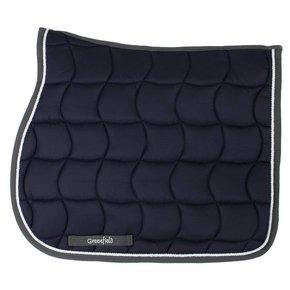 Saddle pad – navy/grey-white