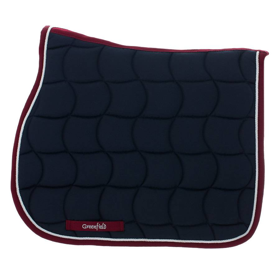 Greenfield Selection Zadeldoek - blauw/bordeaux-wit