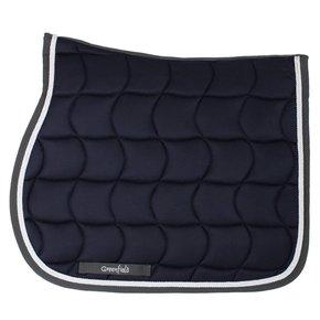 Saddle pad – navy/grey-white/white