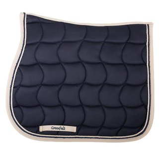 Greenfield Selection Saddle pad – navy/beige-navy/beige