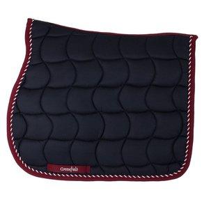 Saddle pad – navy/burgundy-mix