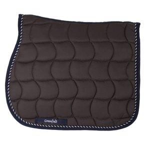 Saddle pad – grey/navy-mix