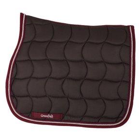 Saddle pad – grey/burgundy-silvergrey/burgundy
