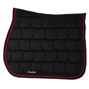 Saddle pad – black/black-red