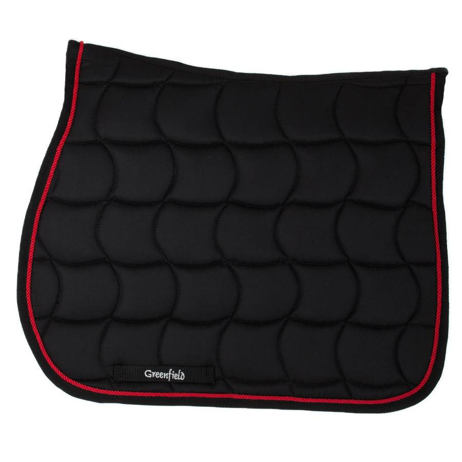 Greenfield Selection Tapis de selle – noir/noir-rouge