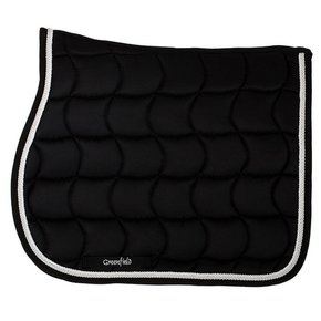 Saddle pad – black/black-white/silvergrey