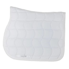 Saddle pad – white/white-white