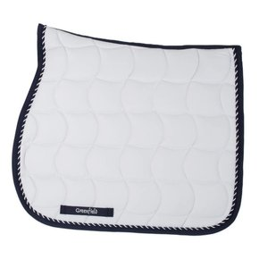 Saddle pad – white/navy-mix